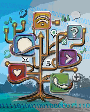 Tree of social media