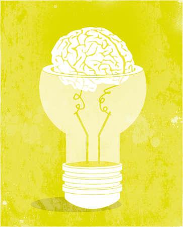 Human brain in a light bulb