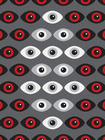 Collection of eyes looking out