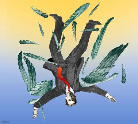 Businessman as Icarus