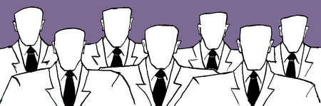 Group of faceless people