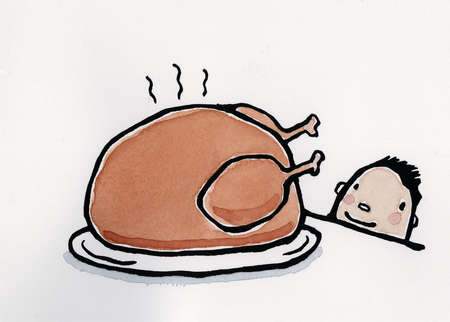 Child Looking at Turkey