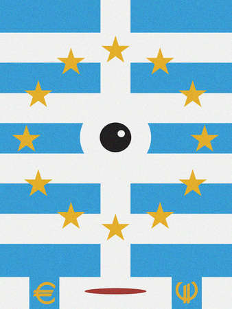 Abstract Euro Flag