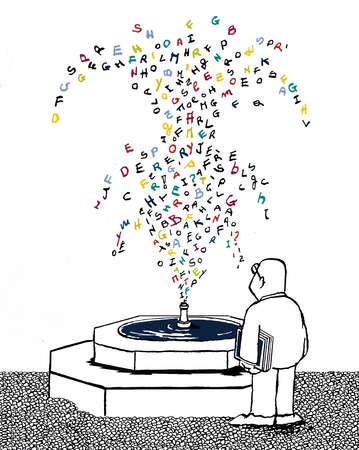 Man At Fountain