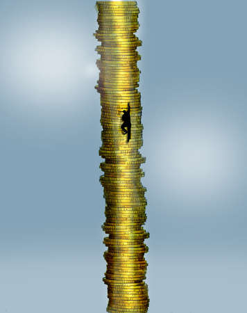 Figure Climbing Money