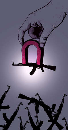 Hand Magnet and Guns
