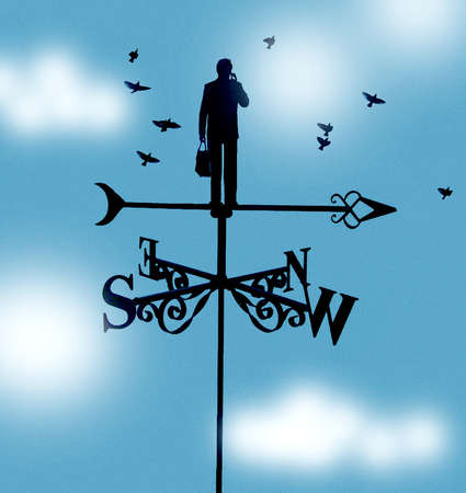 Man Standing In Center of Weathervane