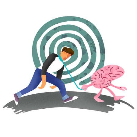 Man Walking Brain