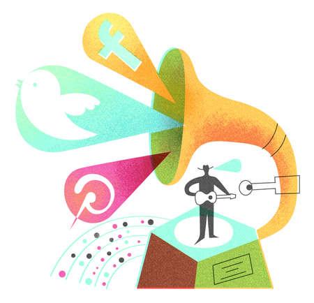 Social Media Phonograph