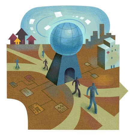 People Traveling World