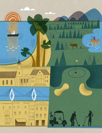 Various Vacation Travel Themes