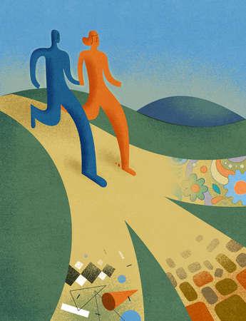 Couple on Uncertain Path