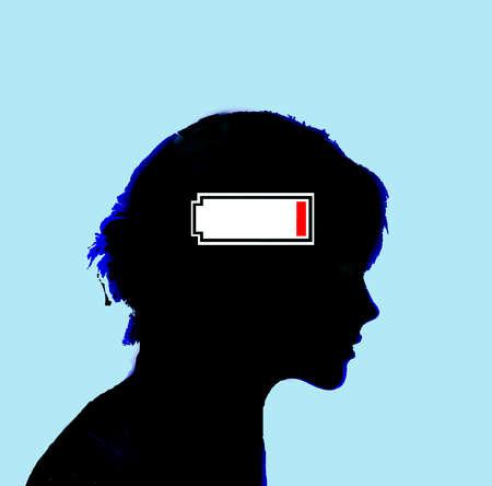 Woman Low Battery