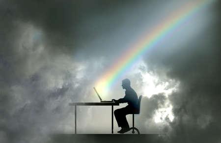 Rainbow Computer Worker
