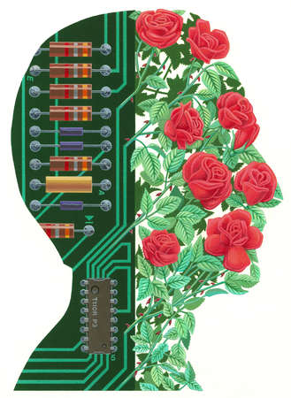 Circuit Board and Flower Profile