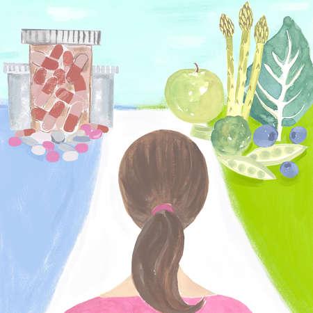 Medicine vs. Fruits and Vegetables
