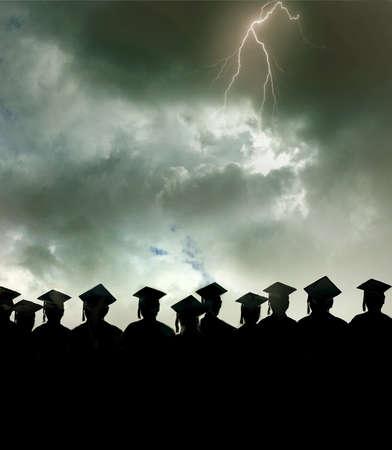 Graduates Facing A Storm