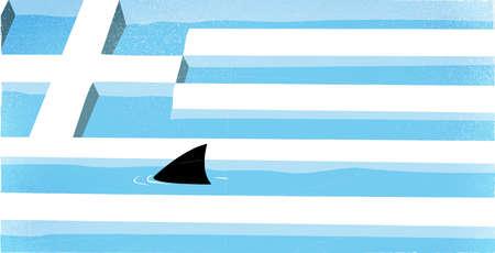 Shark In Greek Flag