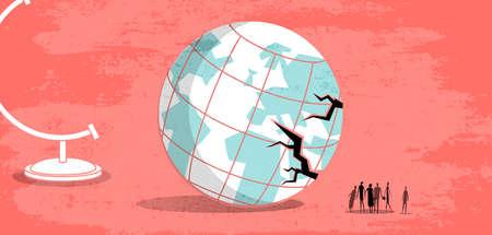 Globe Stand and Damaged World