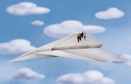 People Taking Flight