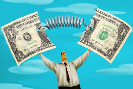 Stretching Dollar Bill