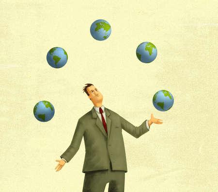 Man Juggling Worlds
