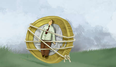 Man Tied to Coin