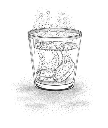 Medicine Dissolving In Glass