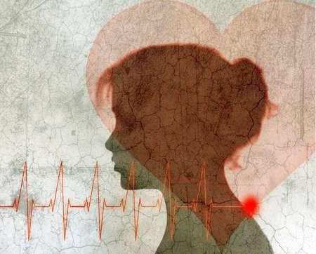 Woman Heart Heartbeat