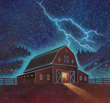 Barn and Lightning