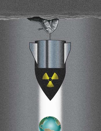 Hanging Bomb Over World