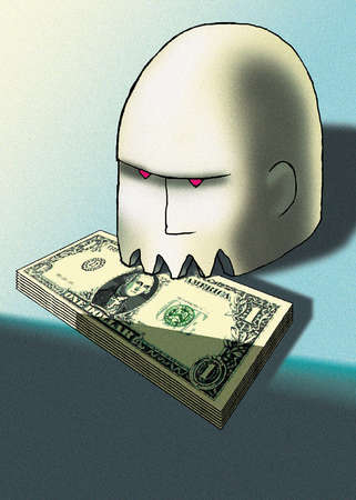 Head Biting Money