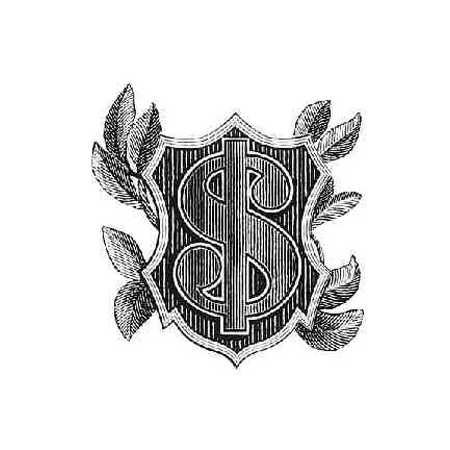 Dollar Sign Inset In Shield