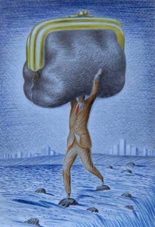 Man Carrying Change Purse