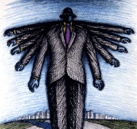 Businessman With Many Arms