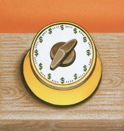 Egg Timer With Dollar Signs