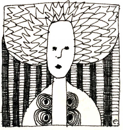Woman With Zigzag Hair