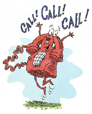 Telephone announcing a phone call