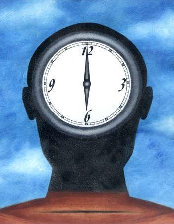 Clock in head
