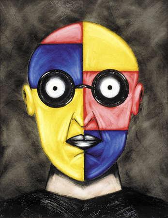 Multi-colored face
