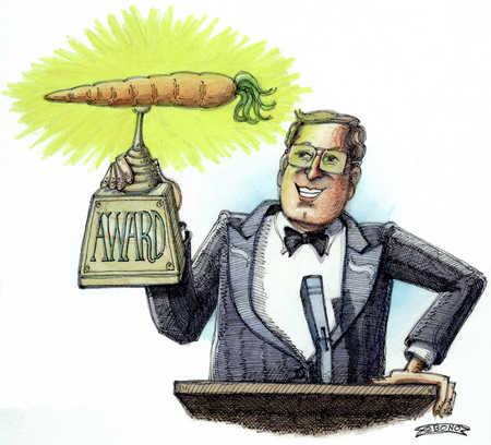Man Receiving Carrot Award