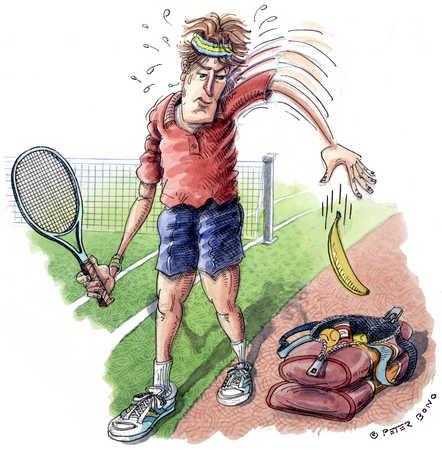 Tennis Player/ Fruit