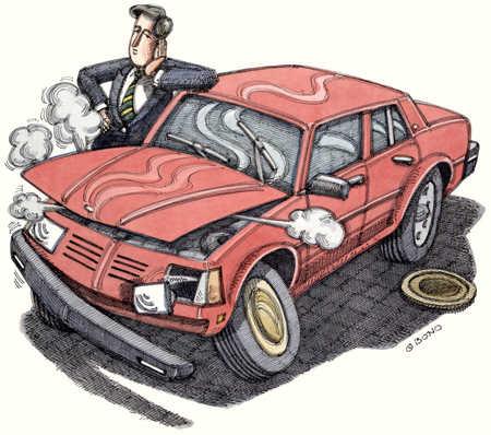 Broken Down Automobile