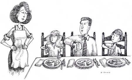 Family Opposing Dinner