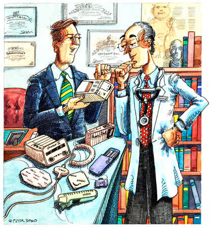 Salesman With Medical Equipment