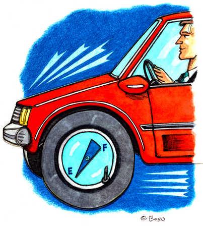 Gas Gauge On Car Tire