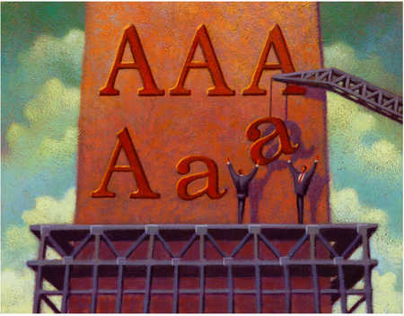 """Billboard With Letter """"A"""""""
