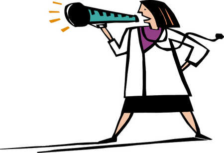 Female Doctor With Megaphone
