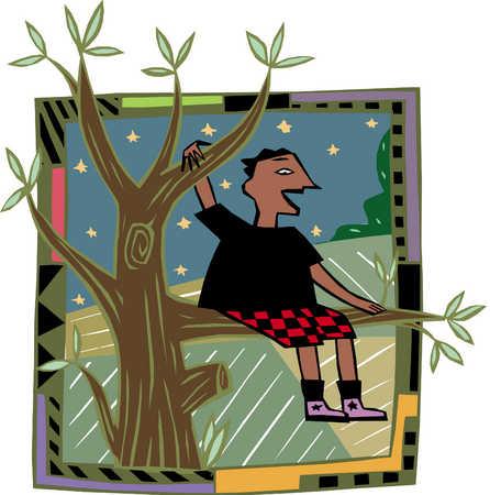 Boy In Tree