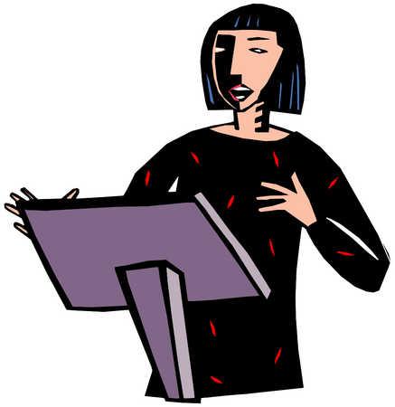 Woman Making Speech